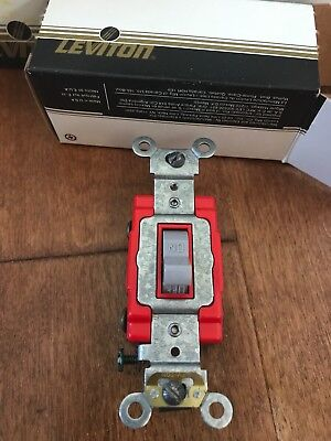 LEVITON RED/GRAY TOGGLE Switch 20A COMMERCIAL 120/277V