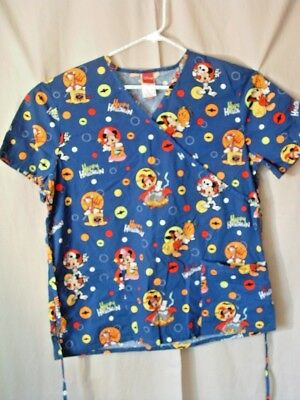 disney mickey mouse scrub top l halloween mickey minnie