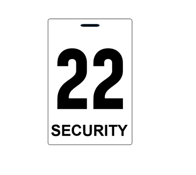 Security guard crowd controller number tag ID plastic PVC card high quality
