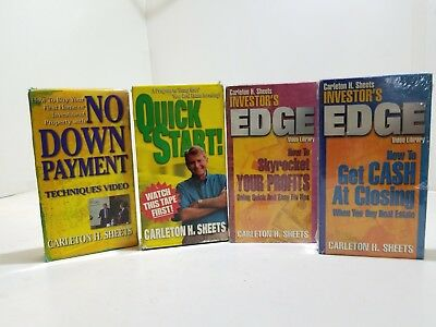 Lot of 4 Carleton H. Sheets Real Estate Investing VHS Tapes