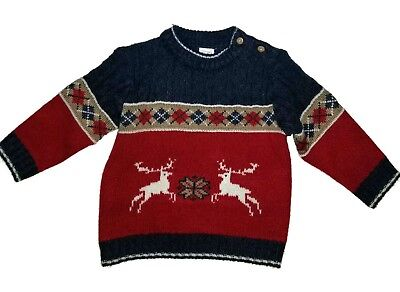 726db1b15b9c BRAND NEW CAT   JACK Baby Boys Red Velvet Sweater with Buttons ...