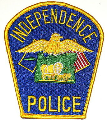 INDEPENDENCE OREGON OR Police Sheriff Patch CONESTOGA COVERED WAGON ~