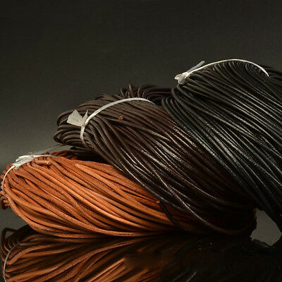 1M Vintage Leather Cord Flat Necklace String Rope DIY Craft Jewelry Making