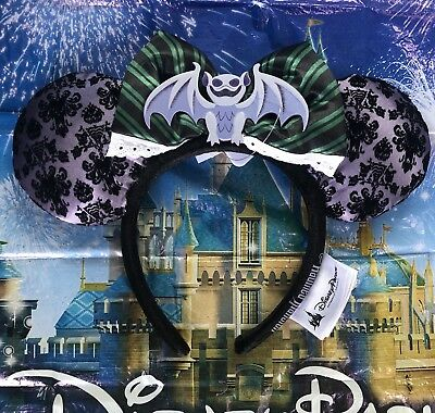 IN HAND Disney Parks Haunted Mansion Minnie Mouse Ears Headband