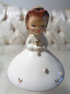 "Vintage Josef Originals California ""December"" Doll of the Month Angel figurine"