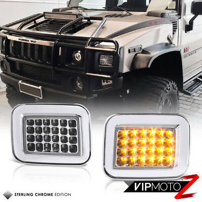 "2003-2009 Hummer H2 SUV SUT ""AMBER"" LED SMD Turn Signal Corner Lights Lamps PAIR"