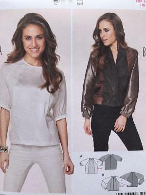 BURDA SEWING PATTERN 6841 Ladies Misses Semi Fitted Blouse Jacket ...