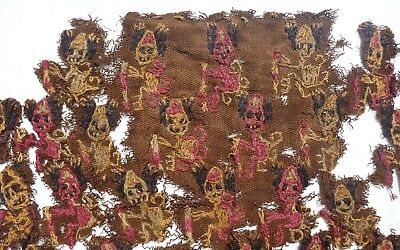 Pre-Columbian Nazca Or Paracas Peru Manta Mantle Textile Fragment – From Museum
