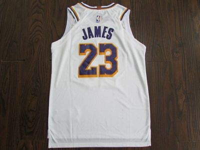 a9c501e8f NWT LEBRON JAMES  23 Los Angeles Lakers Swingman Jersey Stitched ...
