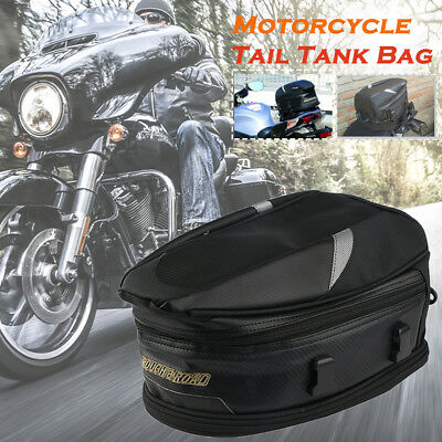 Motorcycle Oil Tank Bag Tail Saddle Bags Storage Pack Luggage Back Seat Helmet