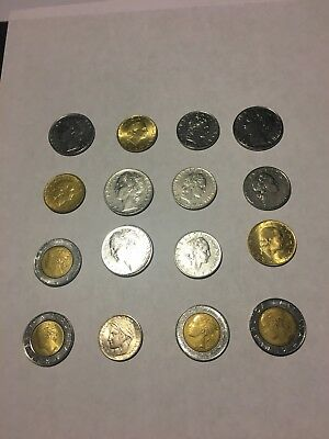 Italian lira coin Lot 16 Coins Circulated 1950's-90's