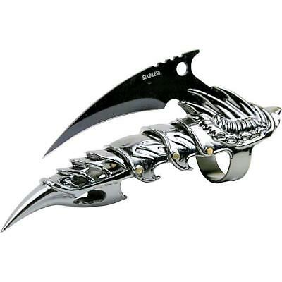 """5.5"""" Dragon Claw Ring Finger Fantasy Combat Knife, Iron Reaver Armor Brand New"""