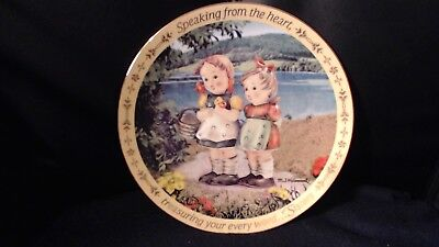 M.i Hummel Sister Plate Speaking From The Heart