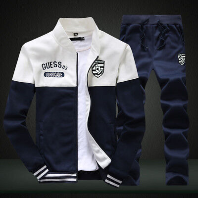 2018 New Mens Fleece Tracksuit Sport Suit Jogging Bottoms Jacket and Pants new