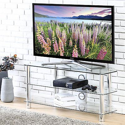 Clear Tv Stand Media Audio Tower Cabinet For 32 37 45 50 55 60