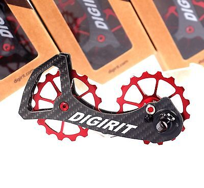 9644f510297 DIGIRIT oversized Pulley Wheel 16/16T Red System Carbon Cage Dura Ace/ Ultegra