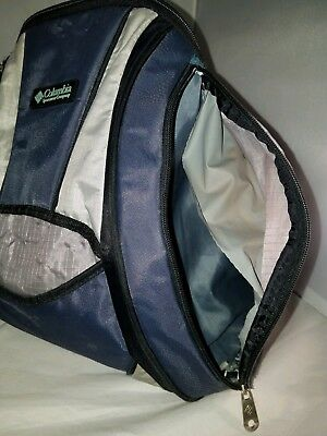 Columbia diaper Backpack Navy Blue grey/silver