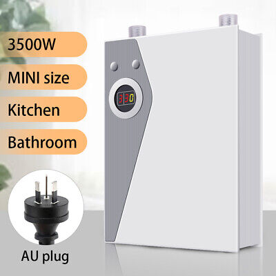 Instant Electric Hot Water System Portable Under Sink Camp Shower Water Heater