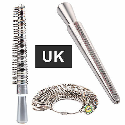 Ring UK Sizer Mandrel Finger Gauge Jewellery Kit Tool Engagement Sizer Jewellers