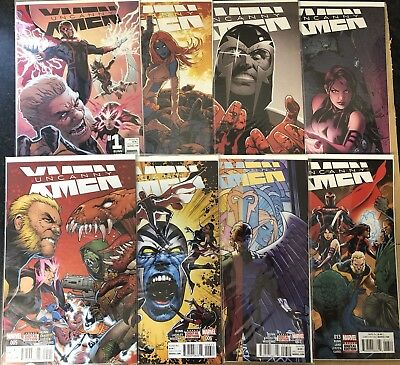 Uncanny X-men Vol 4 Marvel Comic Set (2015) Issues 1-7 & 13 X Men VF+/NM-