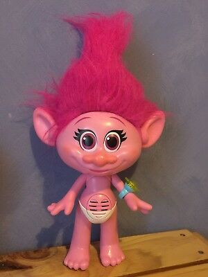 Pink Talking Troll Doll Poppy Hug Time