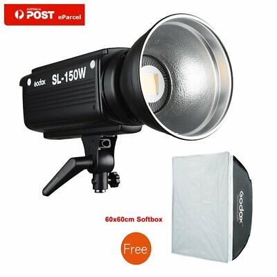 AU Godox SL-150W 5600K Studio LED Video Light +Free 60x60cm Softbox Bowens Mount