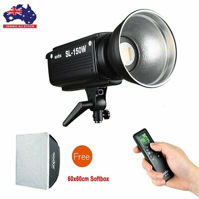 AU Godox SL-150W 5600K Continuous LED Video Light + Free 60x60cm Bowens Softbox