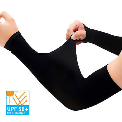 UV Protection Cooling Arm Sleeves - UPF 50 Long Sun Sleeves for Men & Women