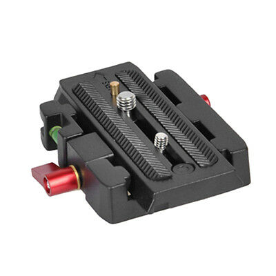 Quick Release QR Plate Clamp Adapter Base Station CL For DSLRCamera TripodRailKK