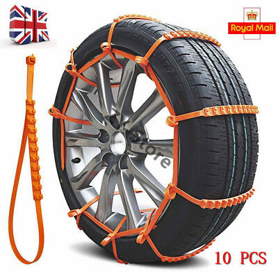 10Pcs 90cm Universal Anti Skid Car Truck Snow Chains TPU Tyre Tire Wheel Cable