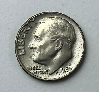 Dated : 1980 - American Coin - Roosevelt - One Dime - United States of America