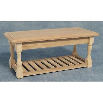 Dolls House Kitchen Table Bare Wood Furniture 1:12 Scale BEF071