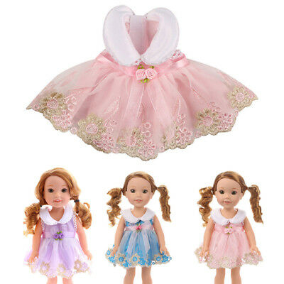 Doll Clothes Cute Mini Dress Flower Sundress For 14 Inch American Girl Doll