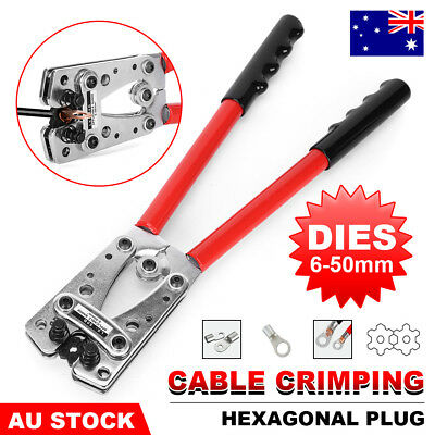 6-50mm² Anderson Plug Crimping Tool Battery Terminal Cable Lug Hex Crimper Kit