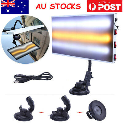 PDR Paintless Dent Repair Removal LED Light 3 Strips Lamp Hail Auto Body Tools