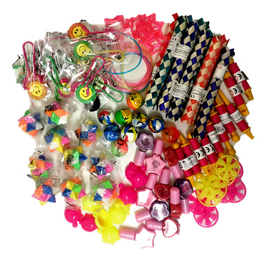 100 Job Lot Mixed Girls Party Bag Fillers Fundraising Prizes Kids Toy Gift Loot