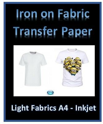 Print Your Own T Shirt Transfer Paper - INKJET IRON ON - Light or Dark Cotton
