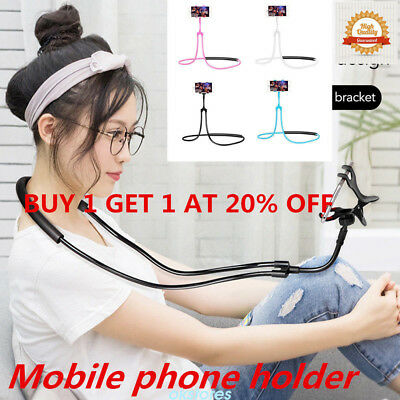 Lazy Hanging Neck Phone Stand Holder Necklace Cellphone Support Bracket lot Y5R
