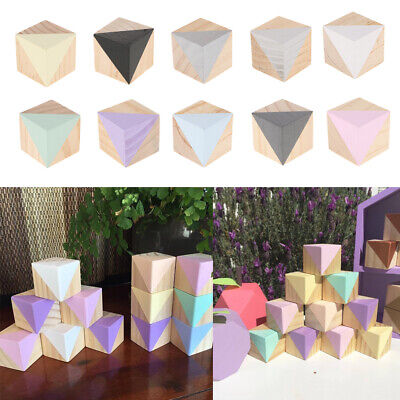 Baoblaze Solid Wood Cubes Blcok Baby Pet Toy DIY Crafts Blos Cube 5x5x5cm