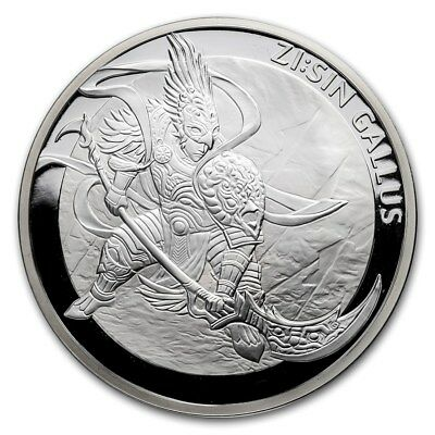 2017 South Korea 1 oz. Silver ZI:SIN Gallus Proof All Government Packaging