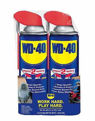 WD-40 Multi Use Product With Smart Straw Spray 2 Pack Set Of 14.4 OZ Cans