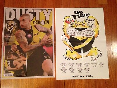 Dustin Martin and Richmond Tigers 2017 AFL finals posters -  Herald Sun