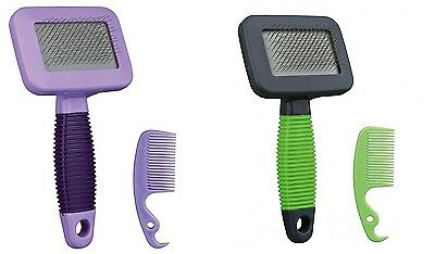 Grooming Brush with Extra Soft Wire Bristles Grooms & Stimulates Small Pets