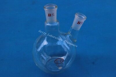 1000ml (1L) 2-neck (two-neck) flat bottom boiling flask, 24/40,heavy wall