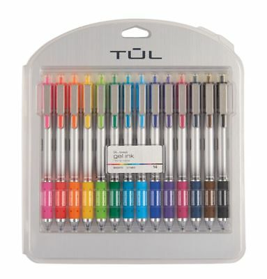 TUL Retractable Gel Pens, Bullet Point, 0.7 mm, Assorted Ink Colors, 14-Pk