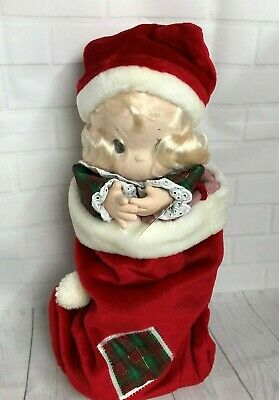 "1997 QVC Precious Moments Doll Collection 16"" Jingles Stocking Doll"