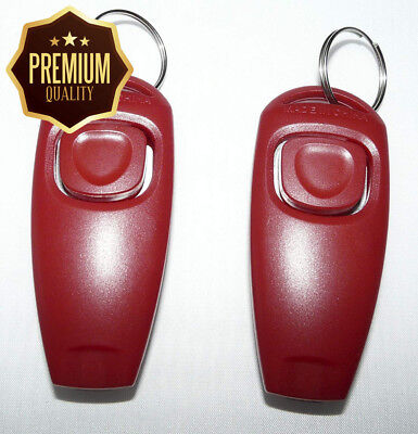 RapidTradeZone Double Pack Dog Puppy Training Obedience Clicker & Whistle...