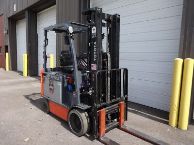 2012 Toyota 5,000 Pound Capacity Electric Forklift Model 8Fbchu25, Low Hours!!!