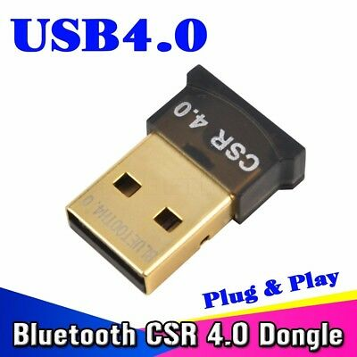 Mini Bluetooth USB Adapter CSR V 4.0 Dongle Dual Mode 3Mbps For Windows 7 8 10