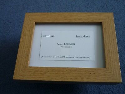 Framed replica business card prop fight club tyler durden soap framed replica business card patrick bateman vice president american psycho prop reheart Gallery